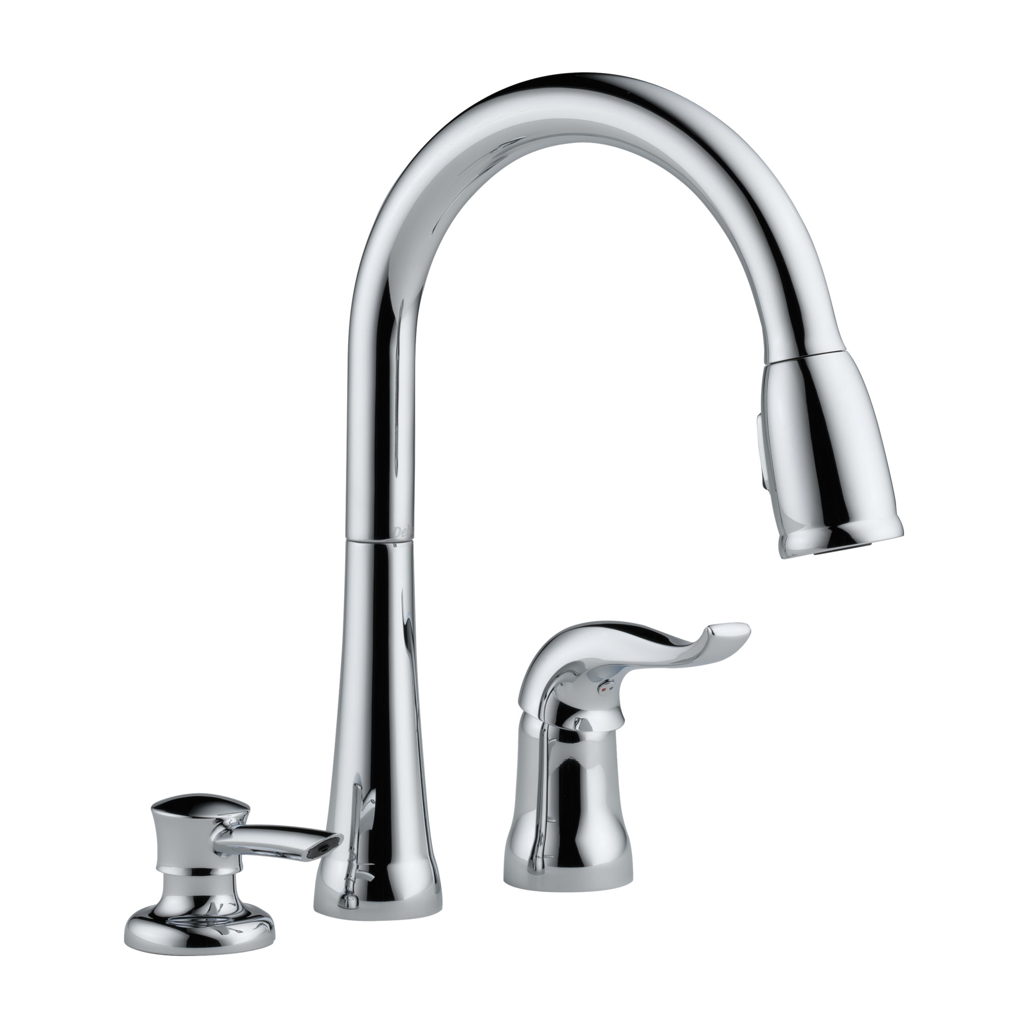 Delta 16970-SD-DST Kate Single Handle Pull-Down Kitchen Faucet with Soap Dispenser