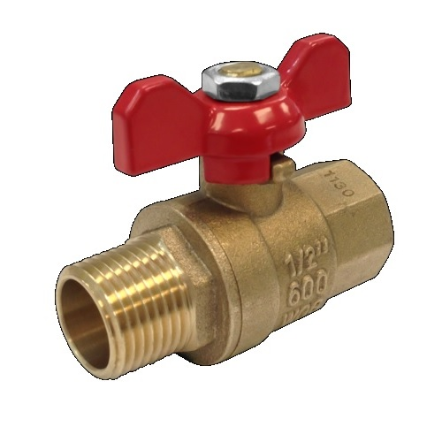 "1"" Gascock Ball Valve with Tee Handle"