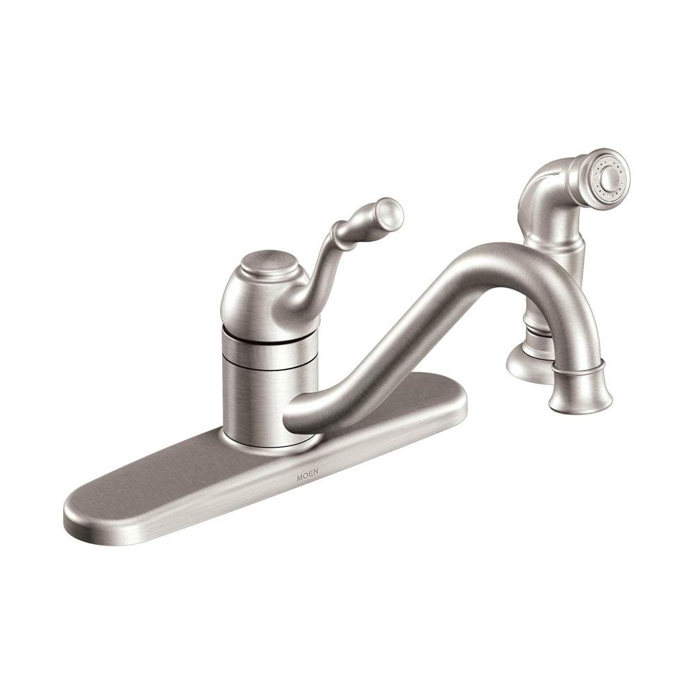 Moen CA87009 Lindley One-handle Low Arc Kitchen Faucet Chrome