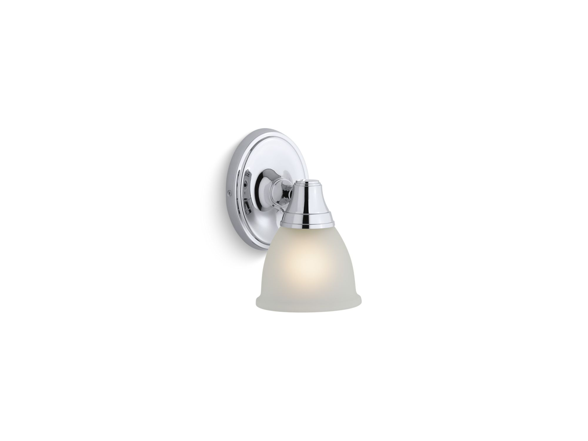 Kohler K-11365-CP Transitional Single Wall Sconce for Forté Faucet Line Polished Chrome