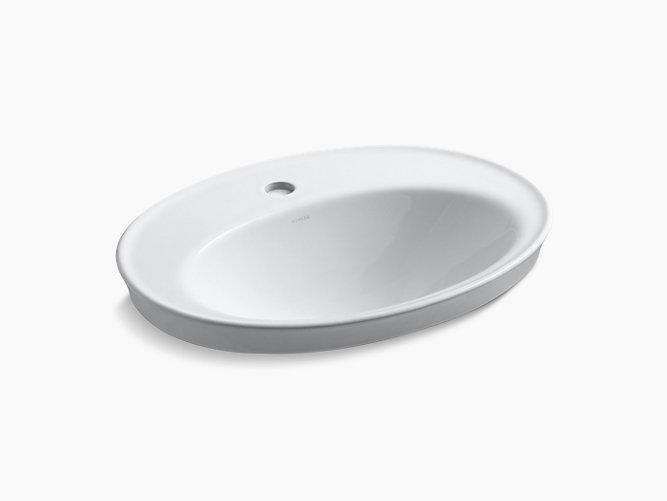 Serif Drop-in sink single hole