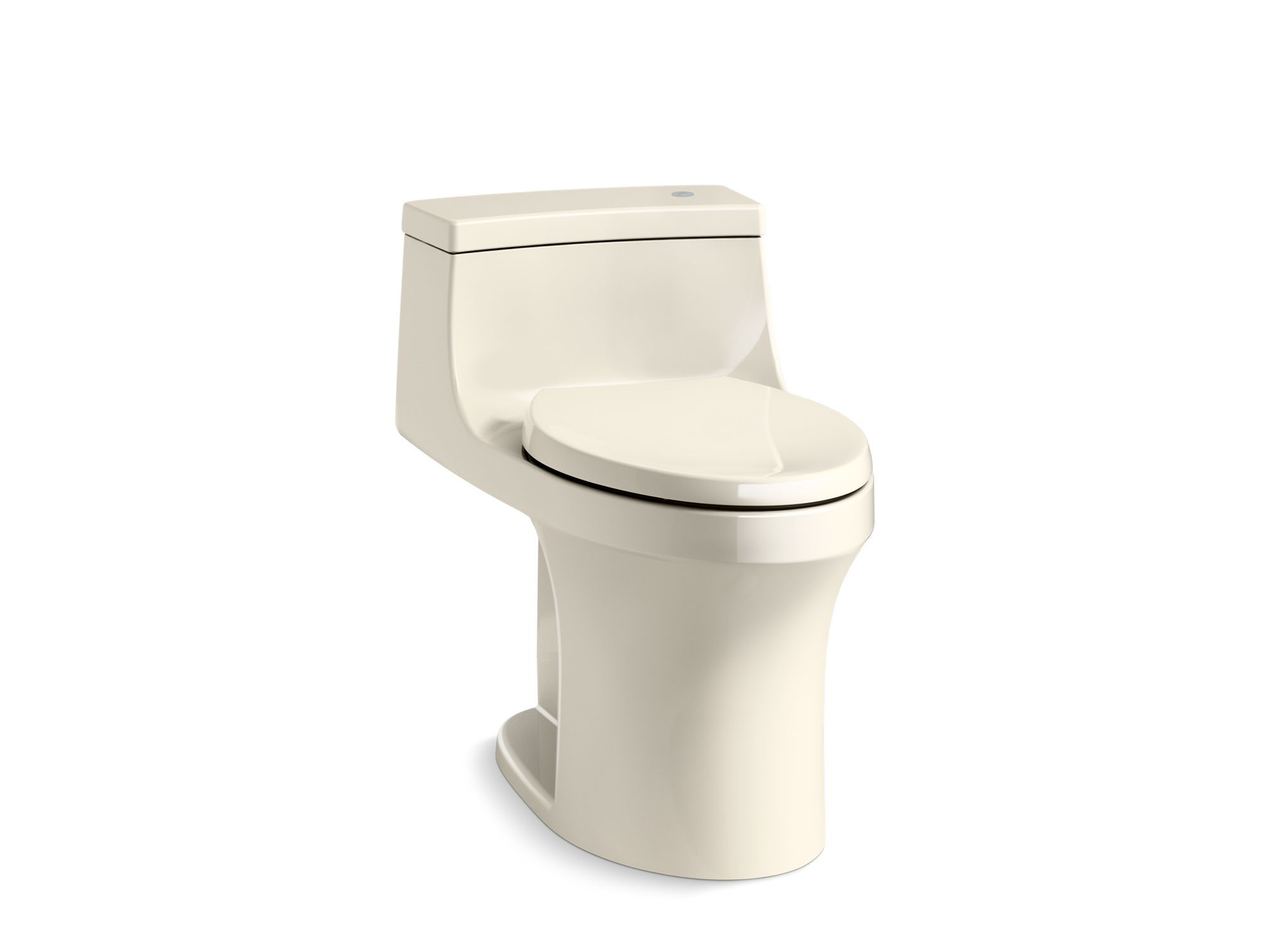 Kohler San Souci™ K-4000-47 Touchless Comfort Height® one-piece compact elongated 1.28 gpf toilet with AquaPiston® flushing technology Almond
