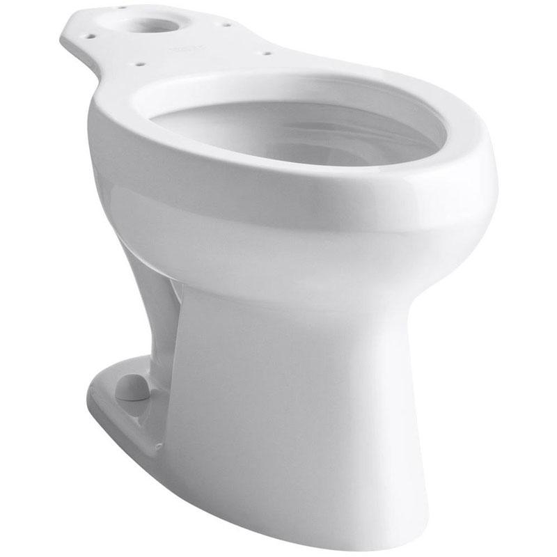Kohler K-4303-0 Wellworth Elongated Toilet Bowl with Pressure Lite Technology White