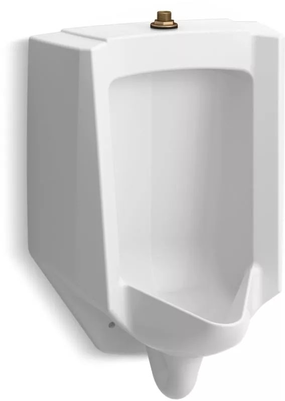 Kohler Bardon™ K-4991-ET-0 High-Efficiency Urinal (HEU), washout, wall-hung, 0.125 gpf to 1.0 gpf, top spud White