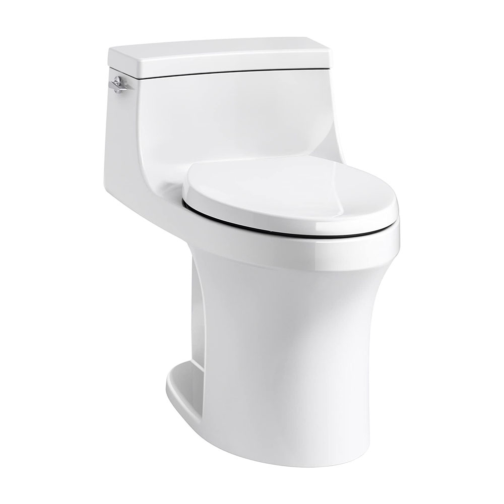 Kohler San Souci™ K-5172-0 Comfort Height® one-piece compact elongated 1.28 gpf toilet with AquaPiston® flushing technology and left-hand trip lever White