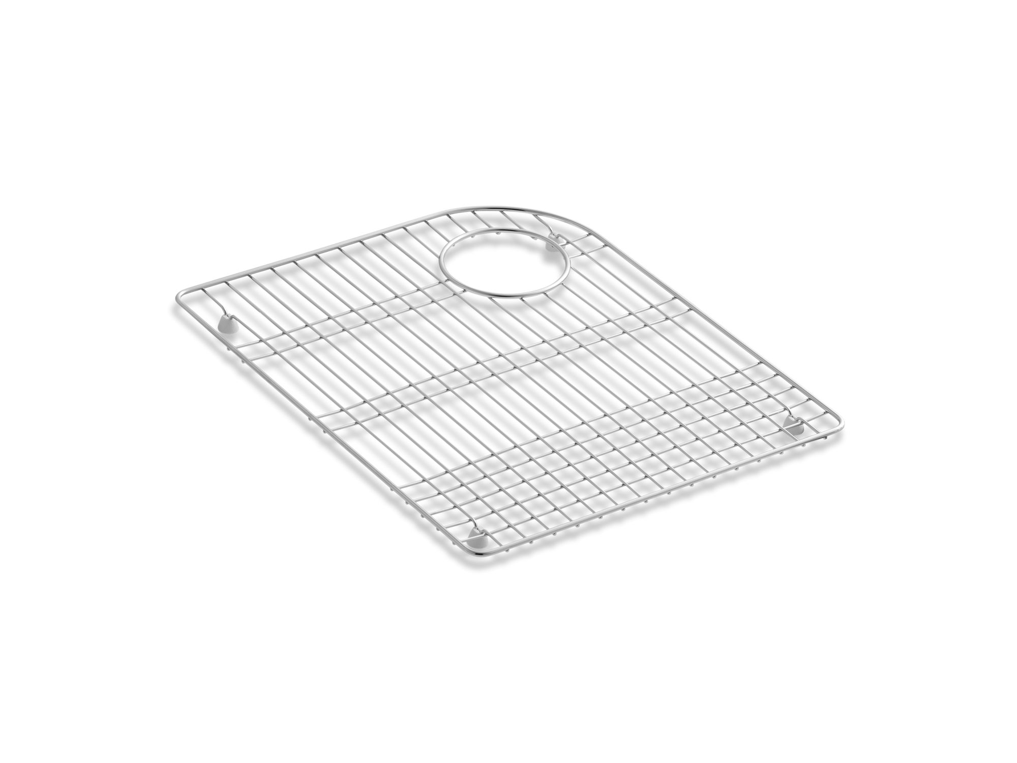 "Kohler K-6001-ST Marsala and Executive Chef Stainless Steel 18"" x 15"" Sink Rack"
