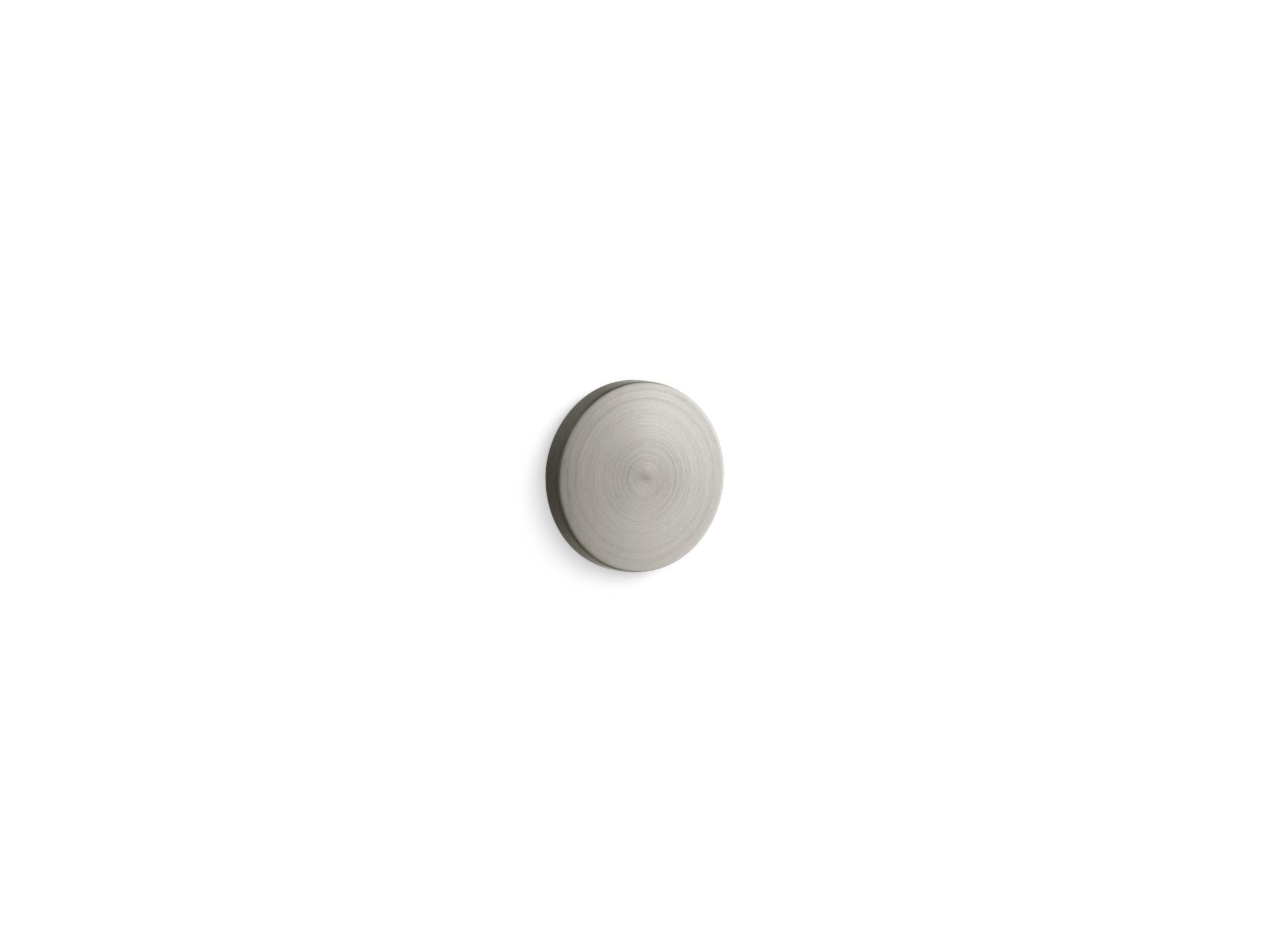 Kohler K-6324-BN Overflow cap for Iron Plains® bathroom sinks Vibrant Brushed Nickel