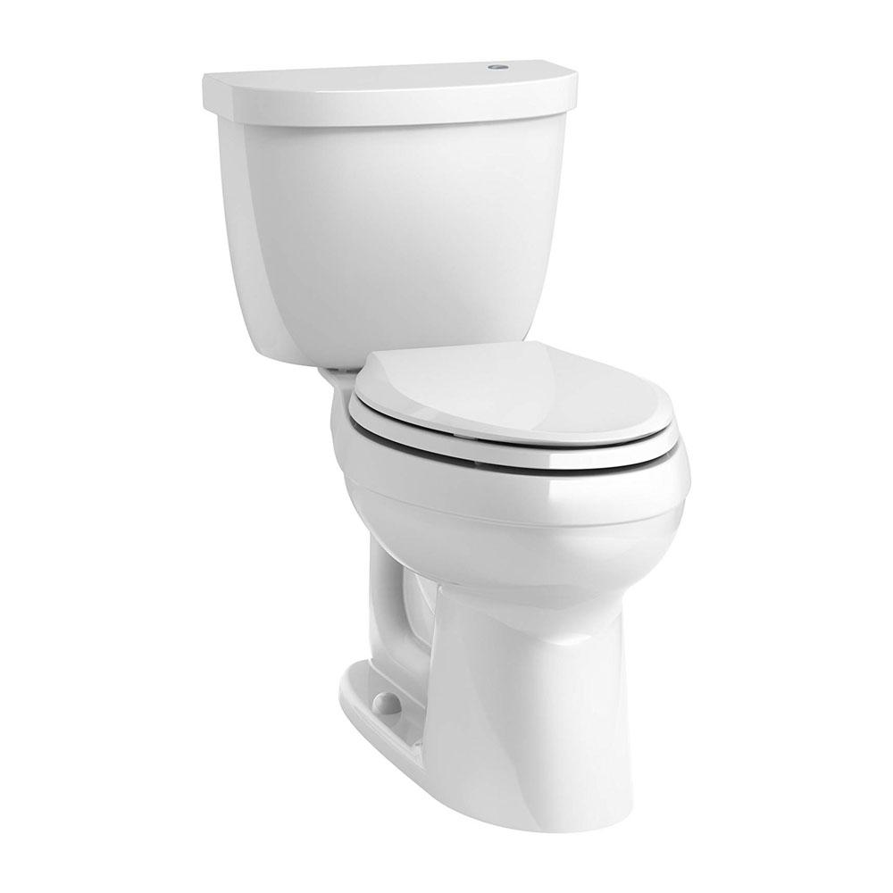 Kohler Cimarron® K-6418-0 Touchless Comfort Height® two-piece elongated 1.28 gpf toilet with AquaPiston® flushing technology White