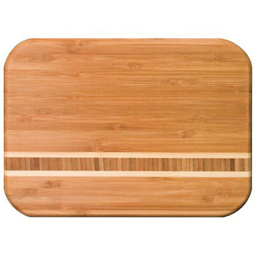 15 Inch Martinique Bamboo Cutting Board Beautiful Looking Board with Marble Look Inlay/ Reversible with Trough For Easy Draining of Meat Juices