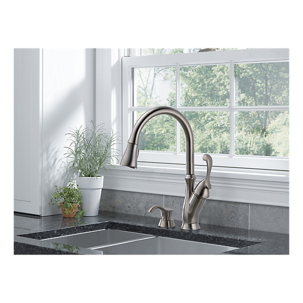 Arabella™Single Handle Pull-Down Kitchen Faucet with Soap Dispenser