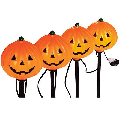4PC Pumpkin Path Marker