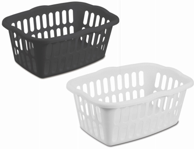 STERILITE 12459412 Rectangle Laundry Basket, 24""
