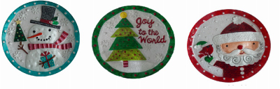 """Transpac Imports TV208458 Holiday plate, 11"""""""