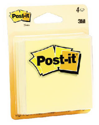 3M COMPANY 4PK YEL Post-It Pads