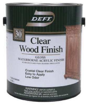 DFT107/01 gallon, Clear Gloss Waterborne, Water Based Wood Finish