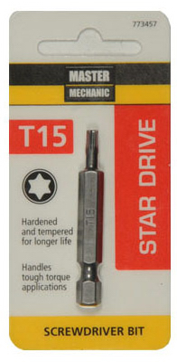 DISSTON COMPANY 773457 Torx 15 Screw Bit, 2""