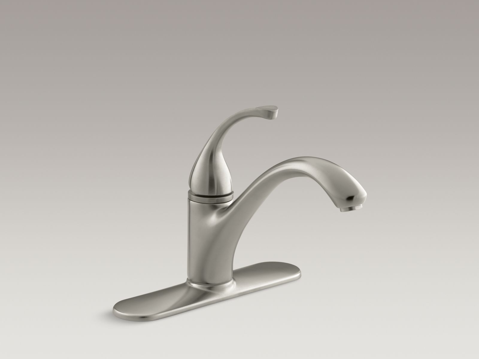 "Kohler K-10411-BN Forté Single-handle Kitchen Faucet with 9-1/16"" Spout and Escutcheon Vibrant Brushed Nickel"