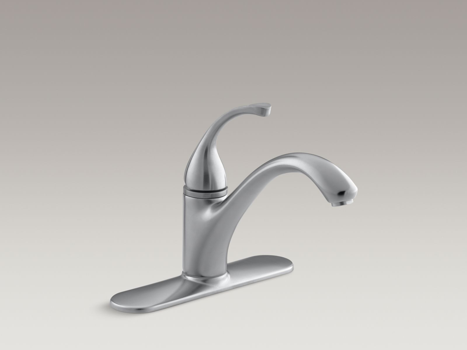 "Kohler K-10411-G Forté Single-handle Kitchen Faucet with 9-1/16"" Spout and Escutcheon Brushed Chrome"