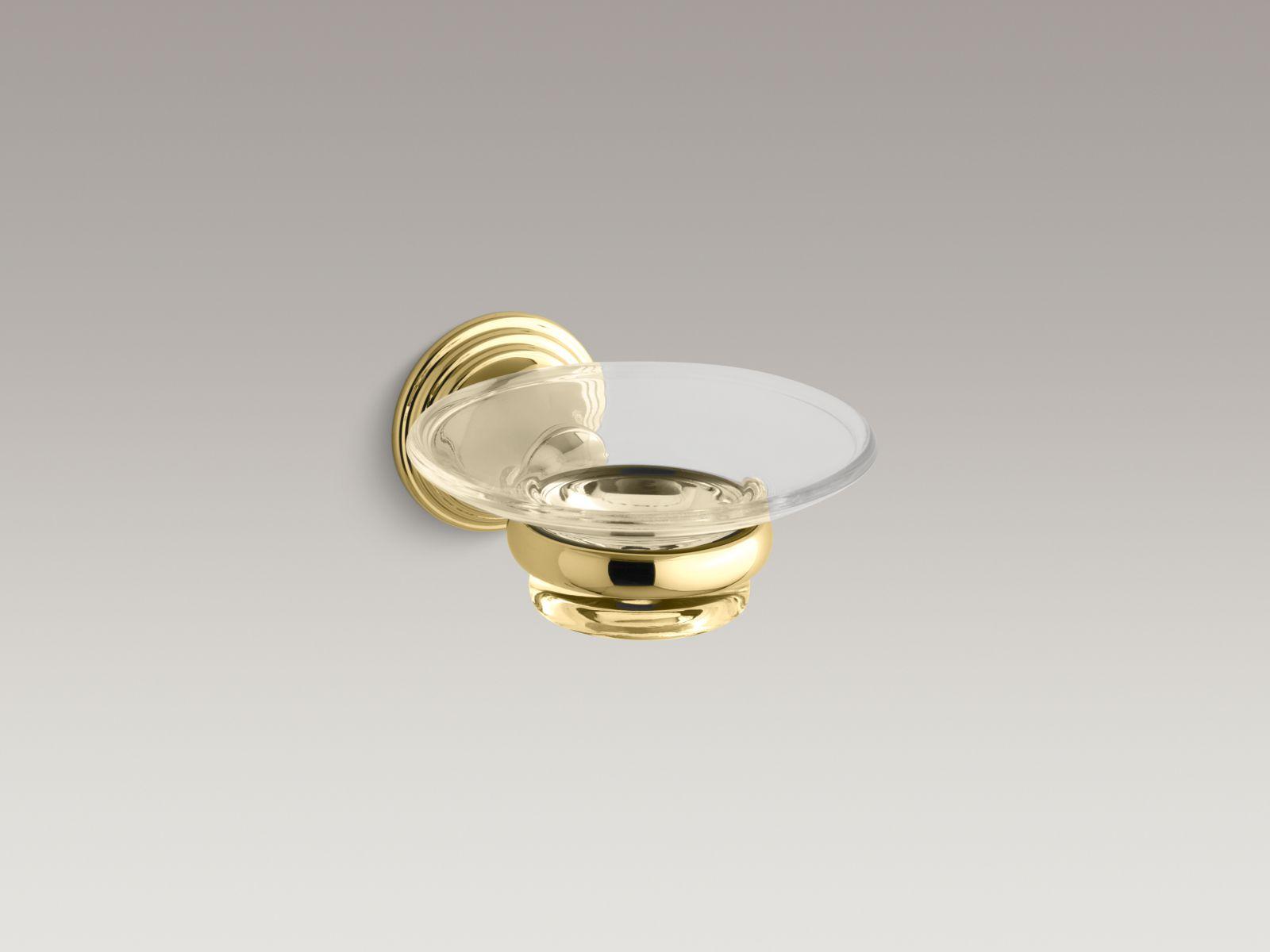 Kohler K-10560-PB Devonshire Wall-mount Soap Dish Polished Brass