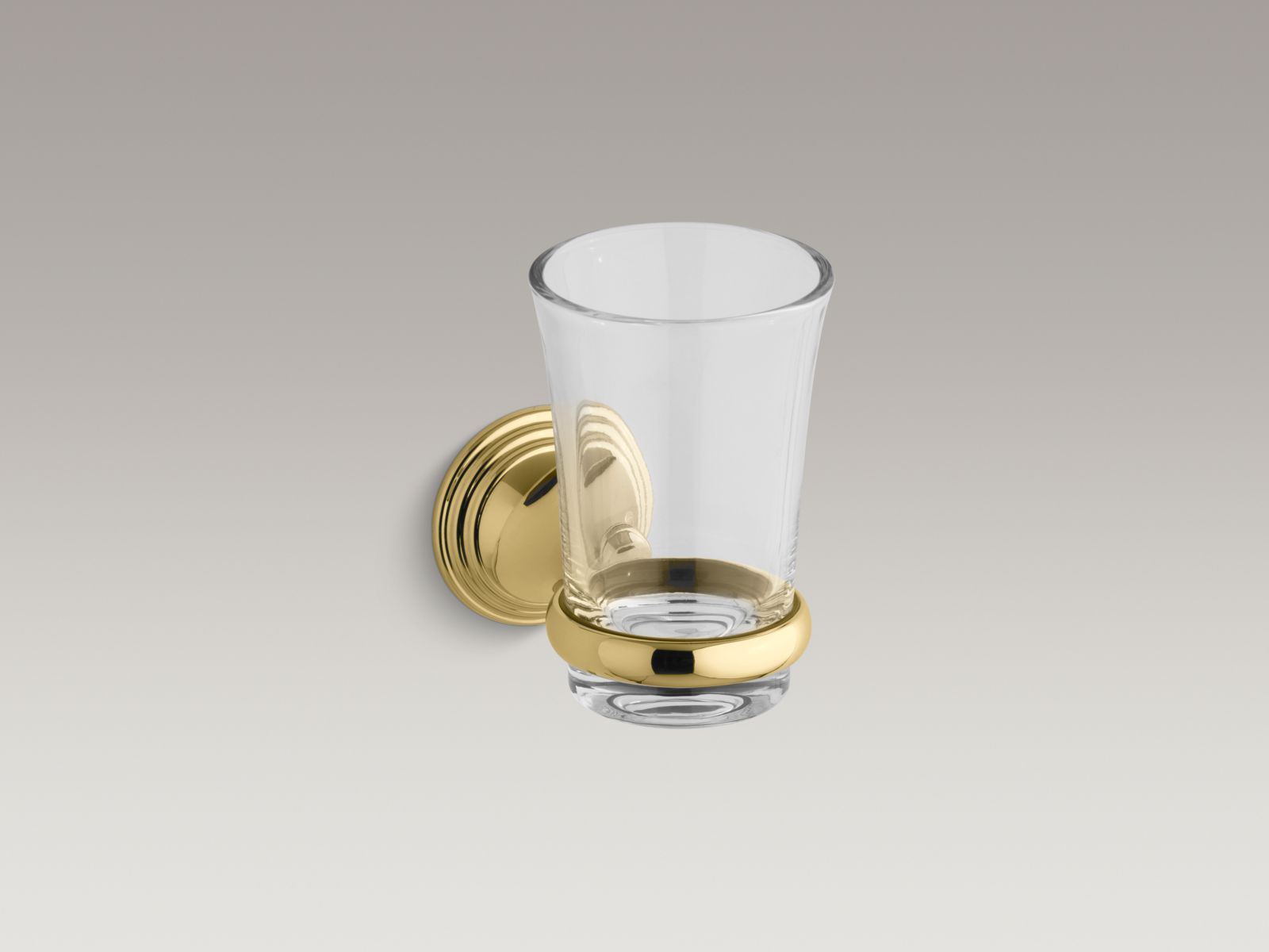 Kohler K-10561-PB Devonshire Tumbler and Holder Polished Brass