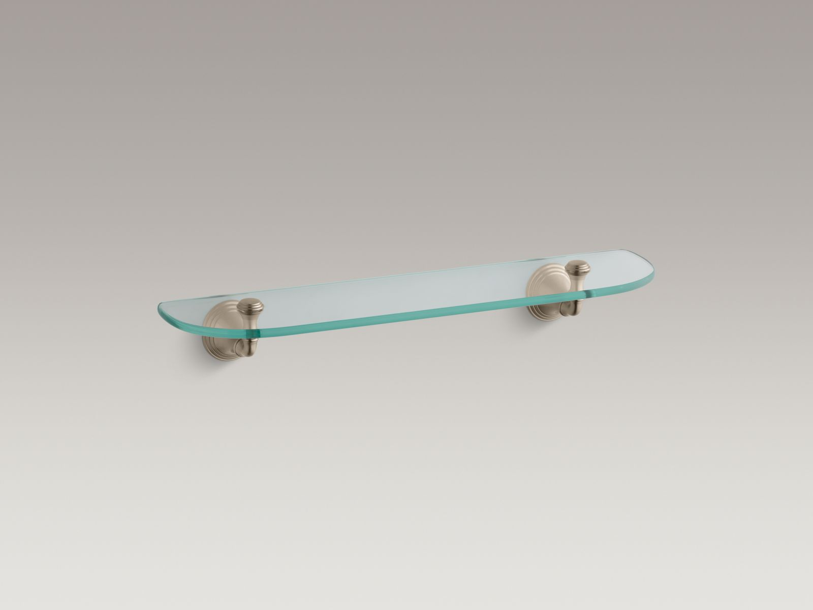 "Kohler K-10563-BV Devonshire 22"" Glass Shelf Brushed Bronze Hardware"