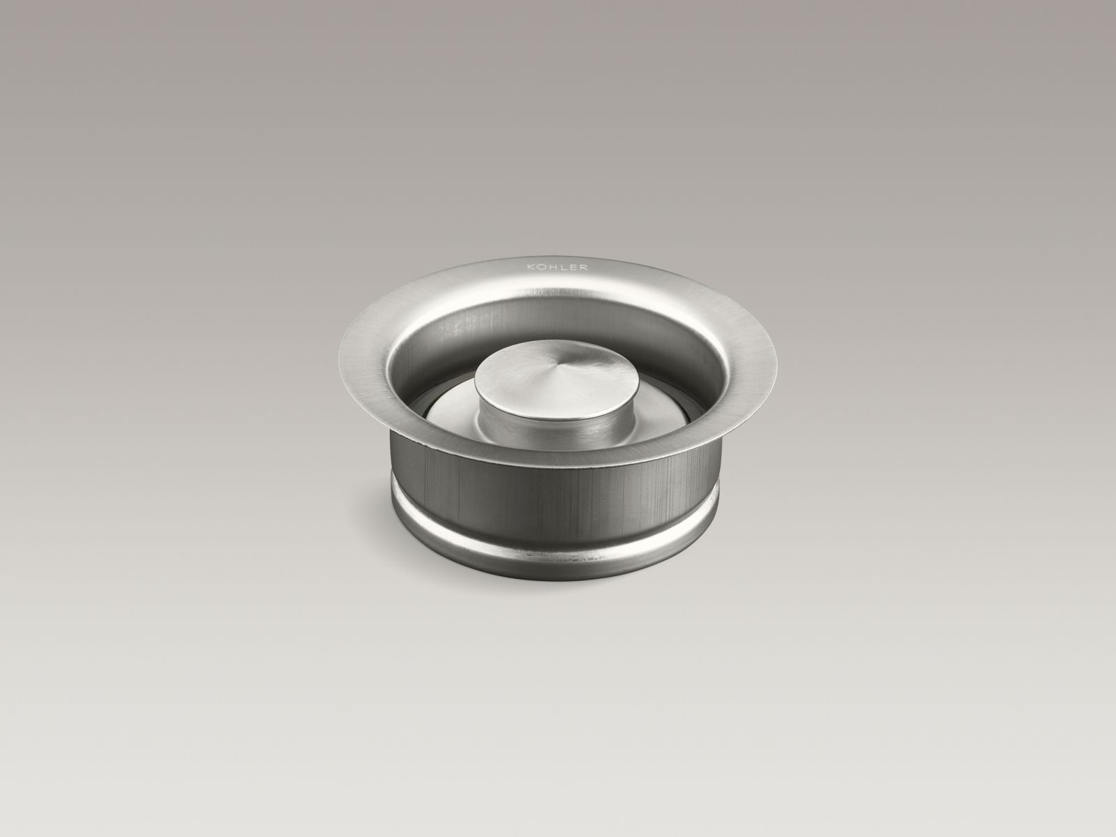 Kohler K-11352-BS Garbage Disposal Flange with Stopper Brushed Stainless