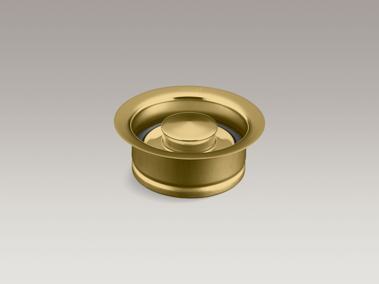 Kohler K-11352-PB Garbage Disposal Flange with Stopper Vibrant Polished Brass
