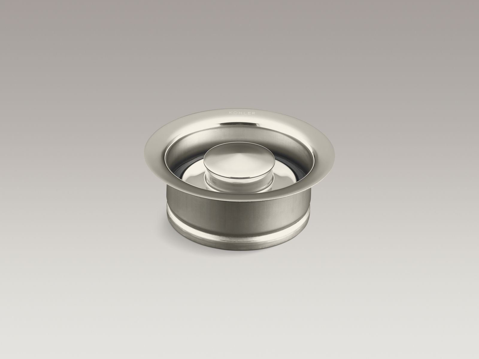 Kohler K-11352-SN Garbage Disposal Flange with Stopper Vibrant Polished Nickel