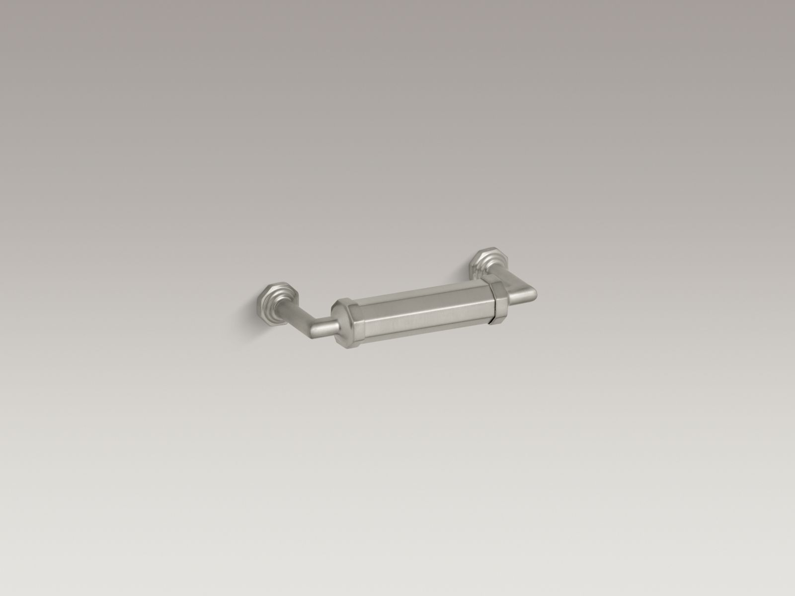 "Kohler K-13125-BN Pinstripe 3.5"" Drawer Pull Vibrant Brushed Nickel"