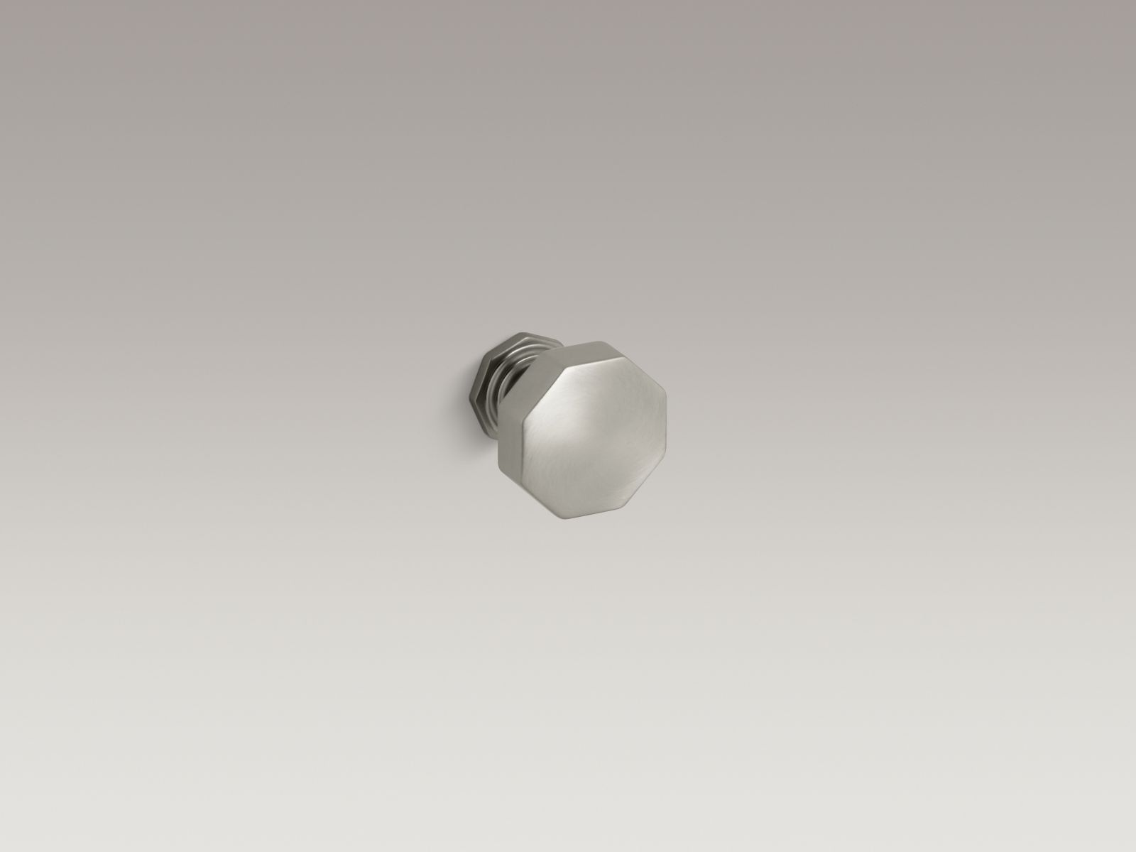 Kohler K-13126-BN Pinstripe Cabinet and Drawer Knob Vibrant Brushed Nickel