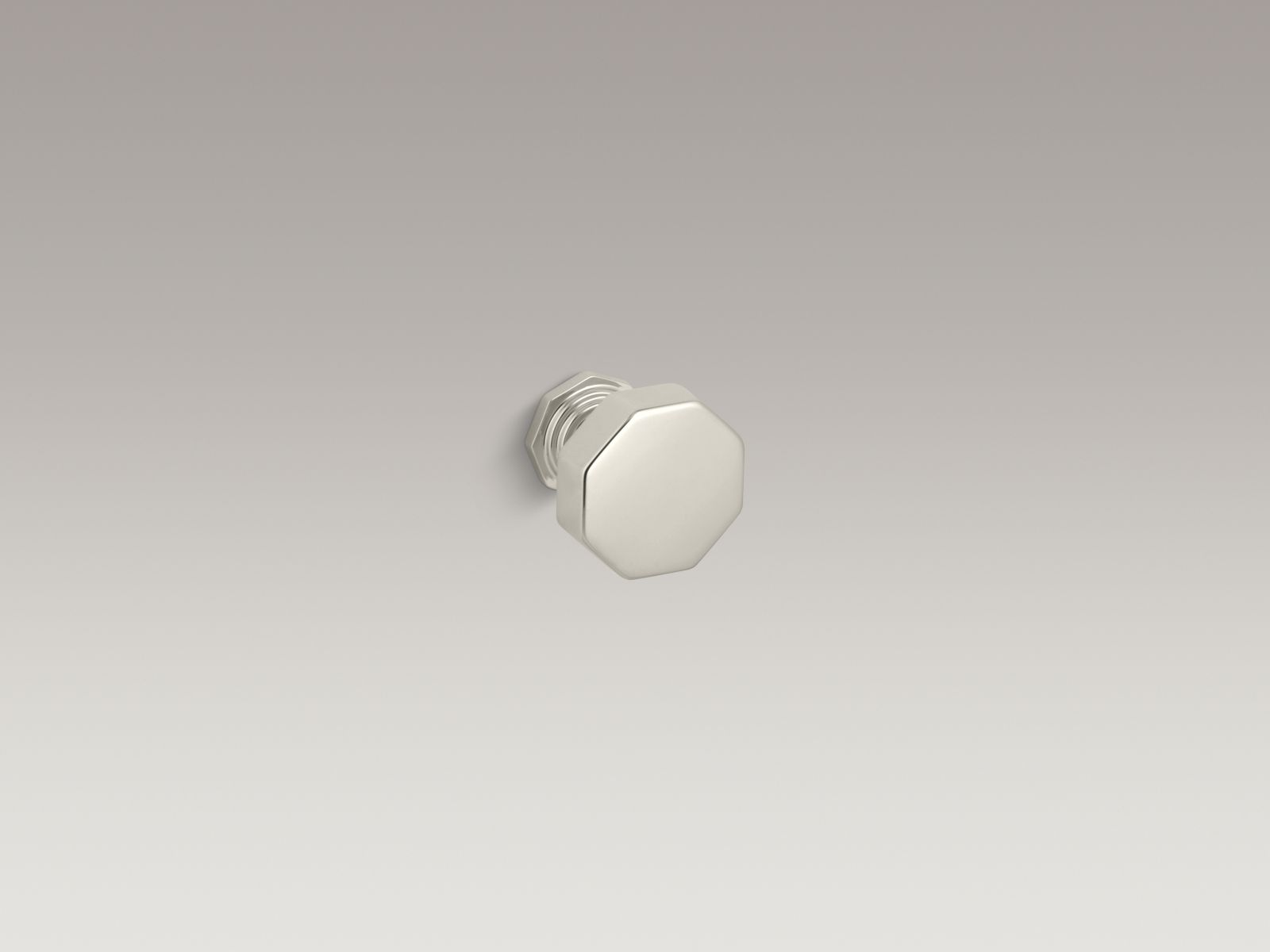 Kohler K-13126-SN Pinstripe Cabinet and Drawer Knob Vibrant Polished Nickel