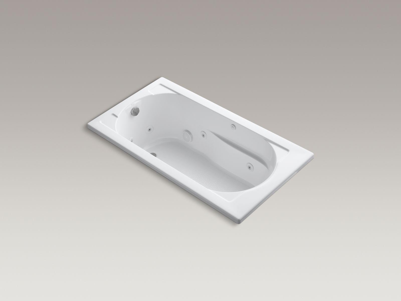 Kohler K-1357-0 Devonshire 5' Whirlpool with Reversible Drain White