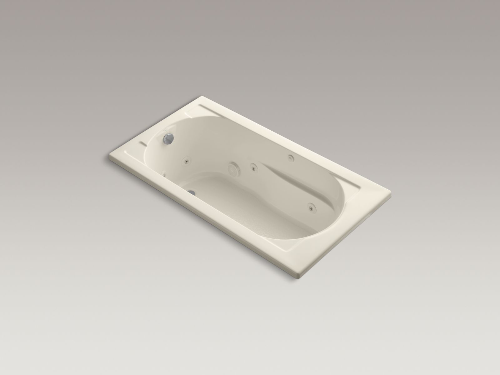 Kohler K-1357-47 Devonshire 5' Whirlpool with Reversible Drain Almond