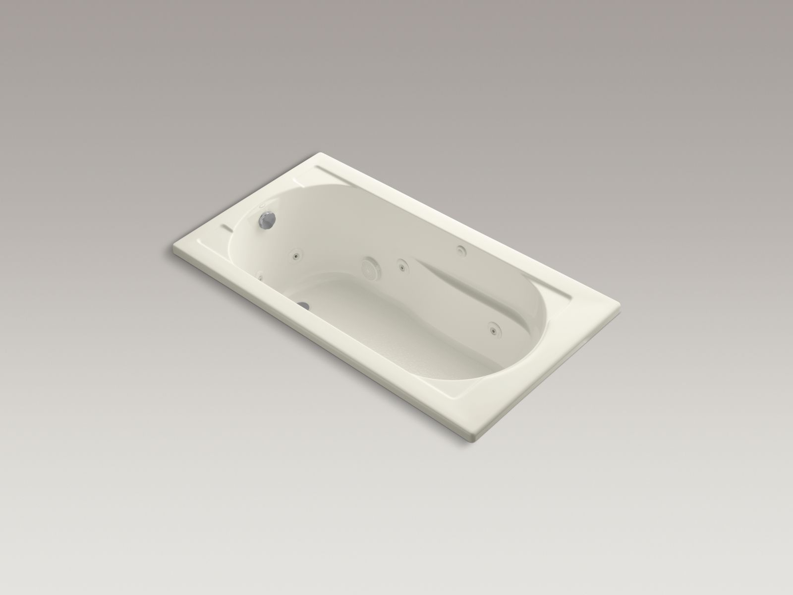 Kohler K-1357-96 Devonshire 5' Whirlpool with Reversible Drain Biscuit