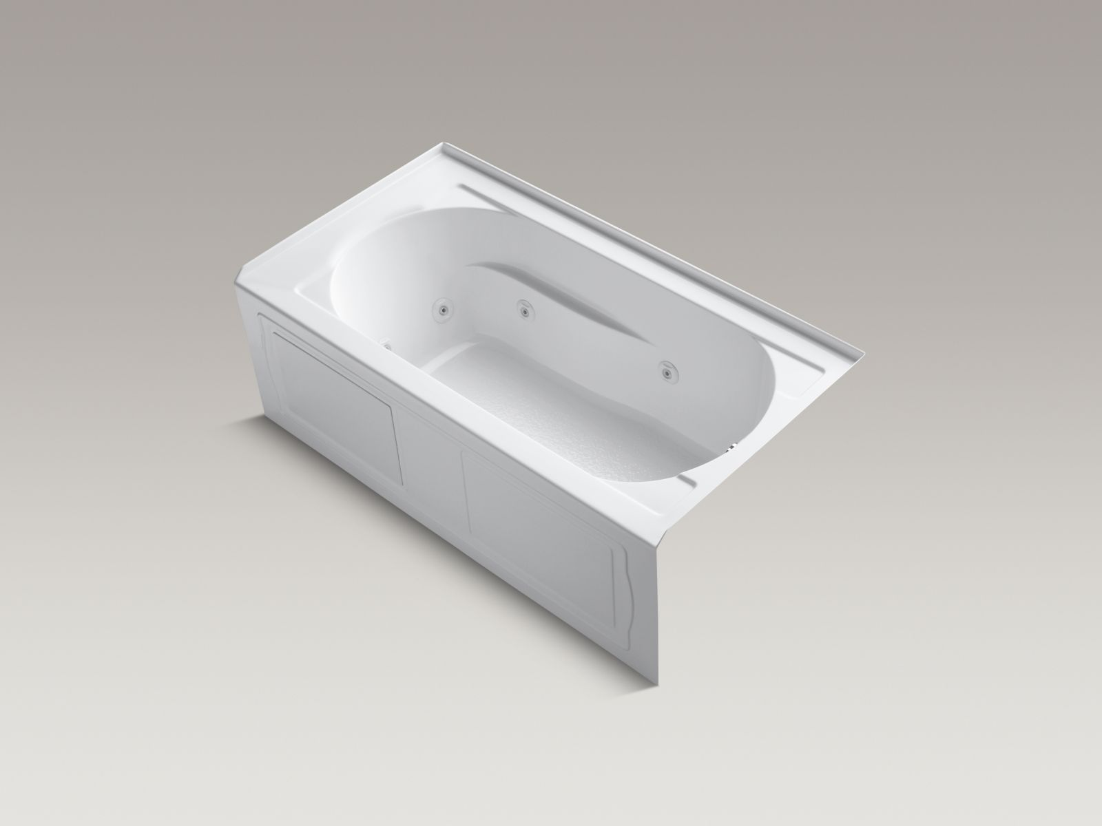 Kohler K-1357-RA-0 Devonshire 5' Whirlpool with Integral Apron and Right-hand Drain White
