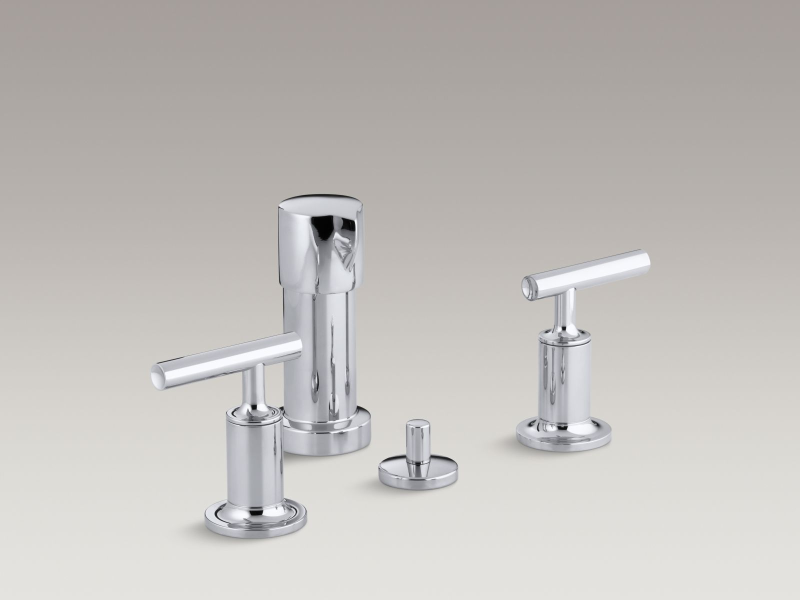 Kohler K-14431-4-CP Purist Vertical Spray Bidet Faucet with Lever Handles Polished Chrome