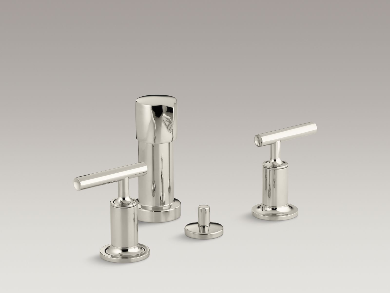 Kohler K-14431-4-SN Purist Bidet Faucet Vibrant Polished Nickel
