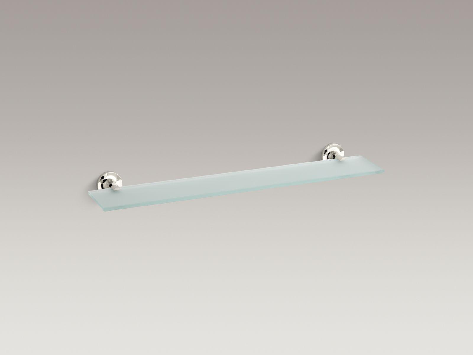 Kohler K-14440-SN Purist Glass Shelf Vibrant Polished Nickel