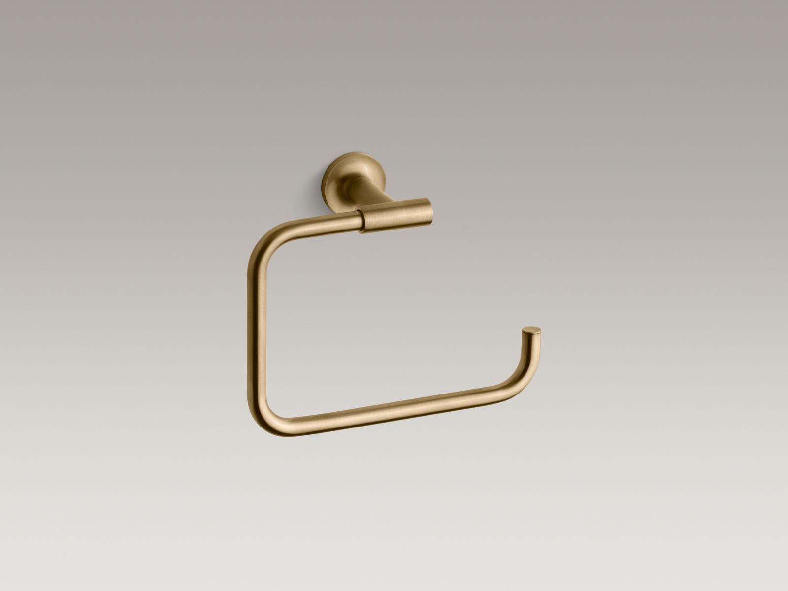 Kohler K-14441-BGD Purist Towel Ring Vibrant Moderne Brushed Gold