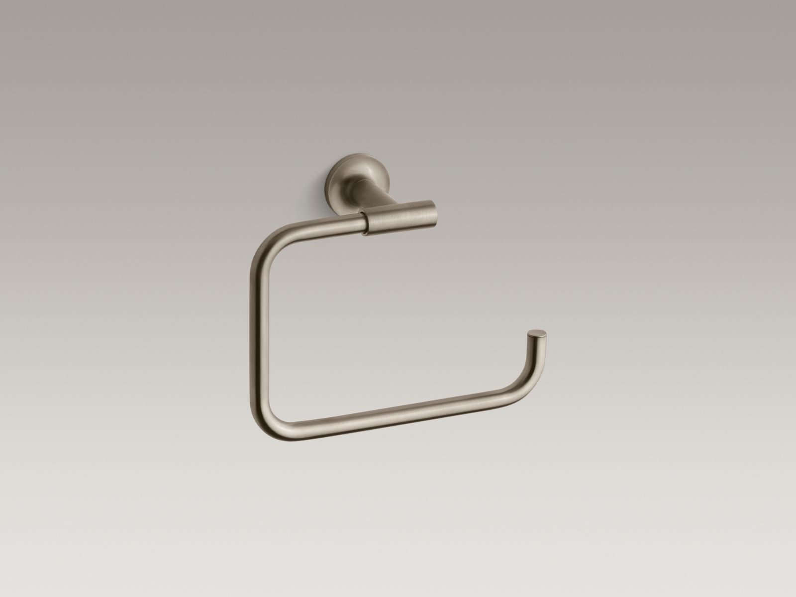 Kohler K-14441-BV Purist Towel Ring Vibrant Brushed Bronze