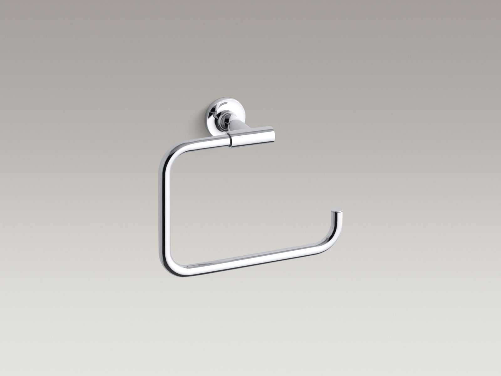 Kohler K-14441-CP Purist Towel Ring Polished Chrome