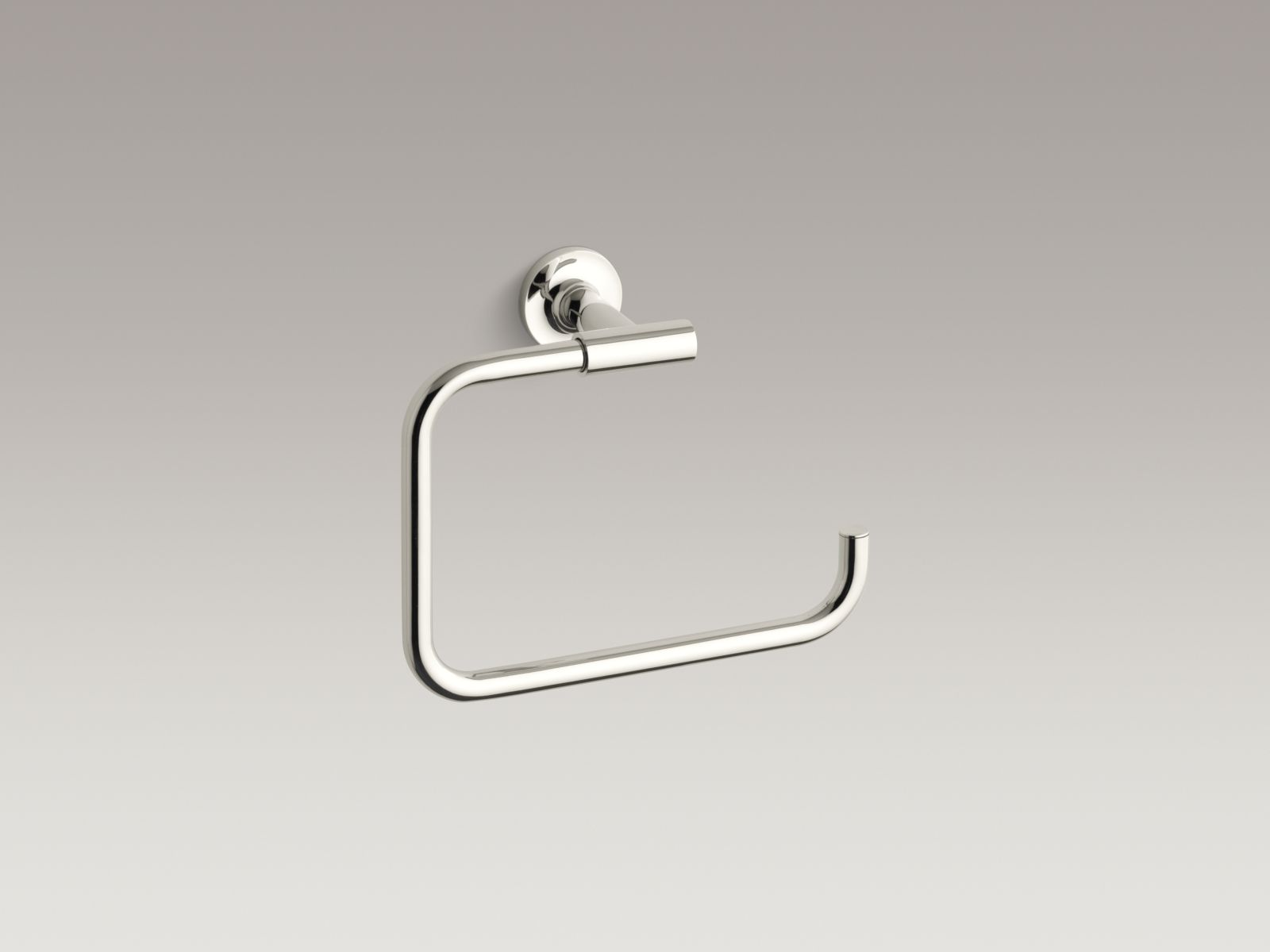 Kohler K-14441-SN Purist Towel Ring Polished Nickel