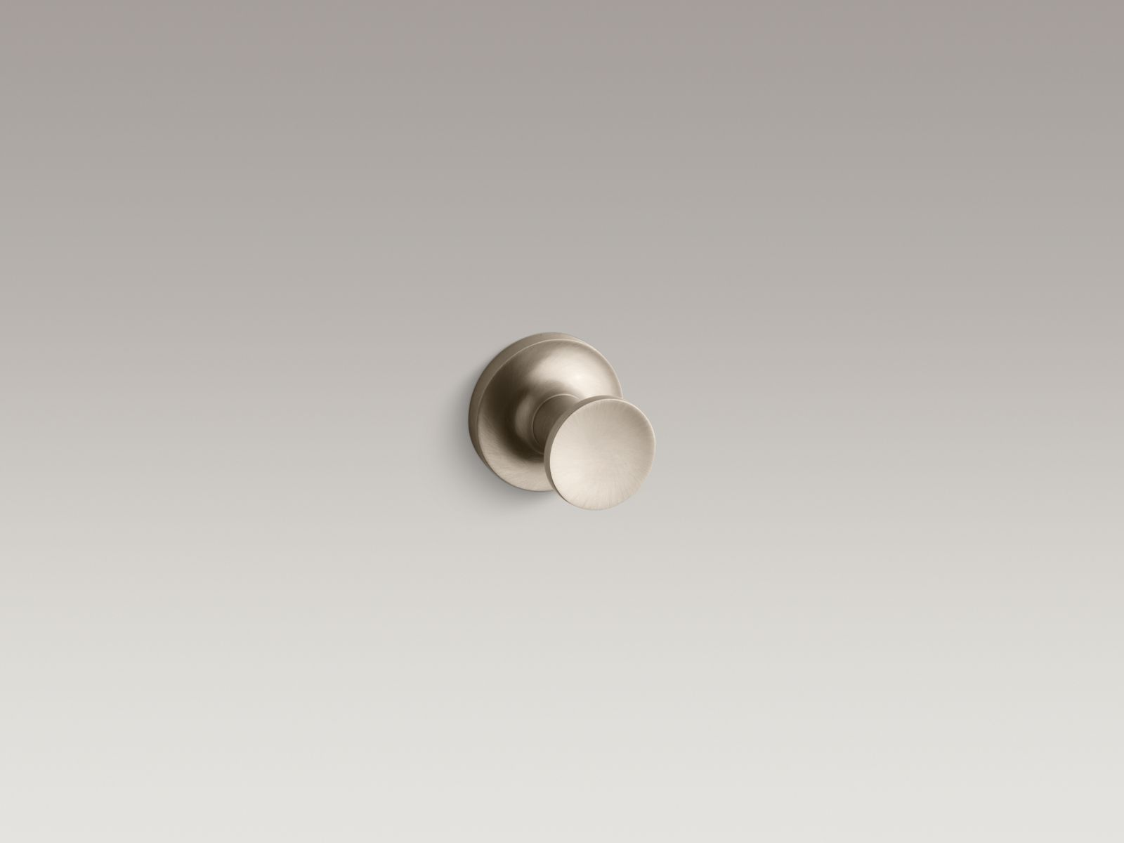 Kohler K-14443-BV Purist Robe Hook Vibrant Brushed Bronze