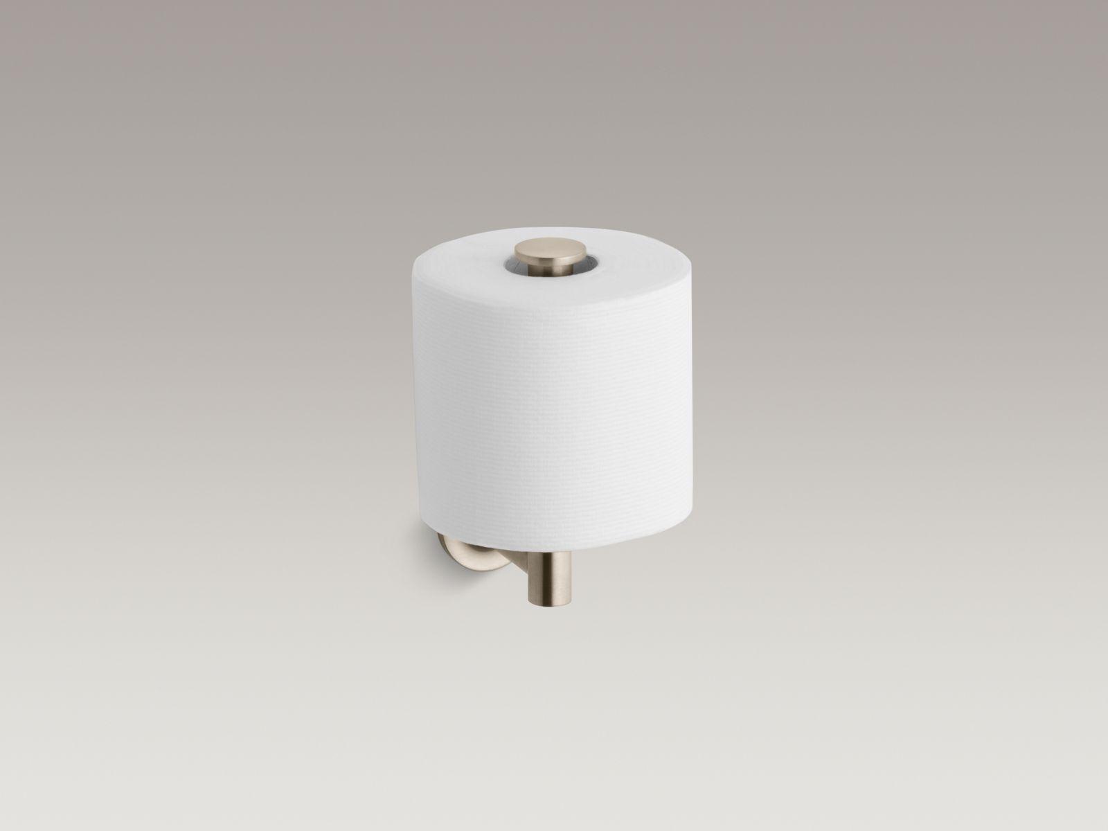 Kohler K-14444-BV Purist Toilet Tissue Holder Vibrant Brushed Bronze