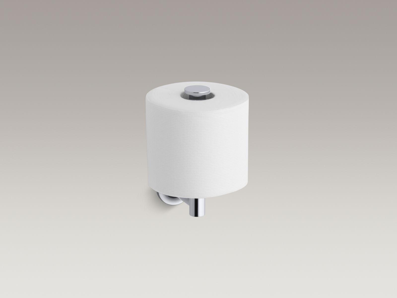 Kohler K-14444-CP Purist Vertical Toilet Paper Holder Polished Chrome