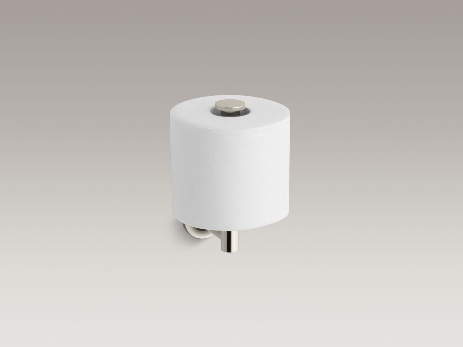 Kohler K-14444-SN Purist Vertical Toilet Paper Holder Polished Nickel