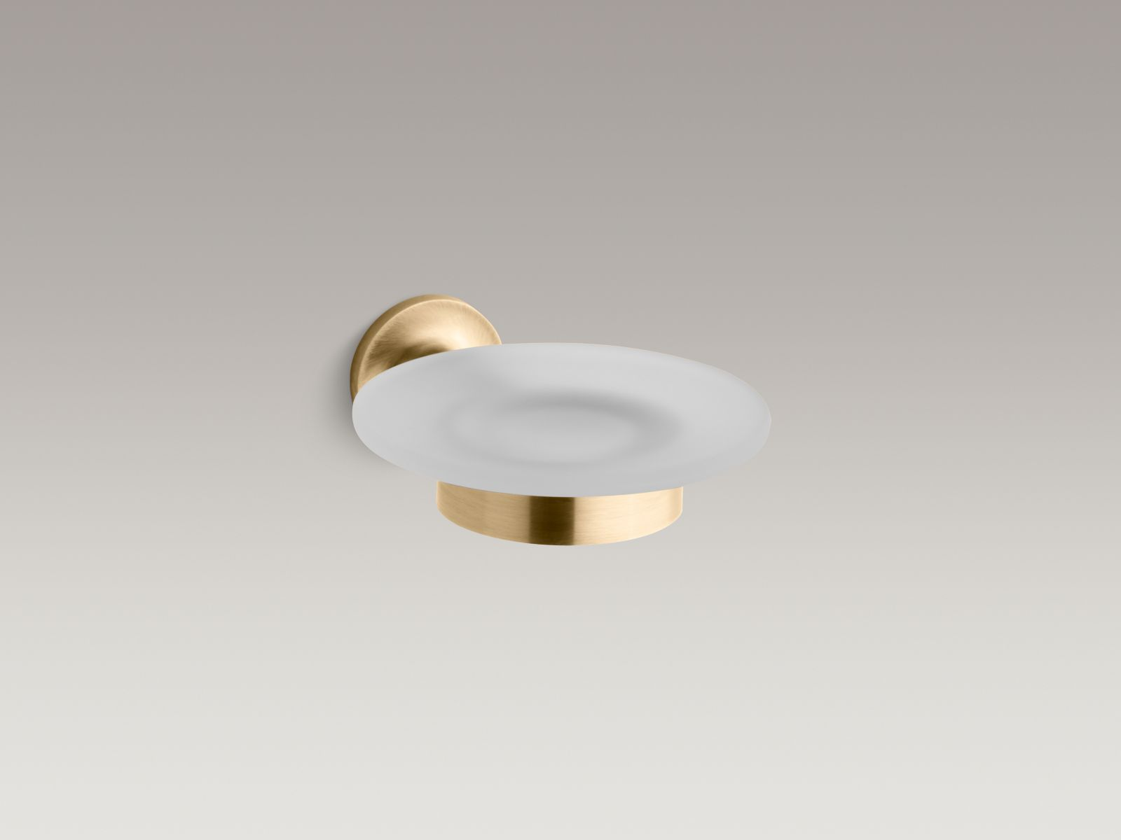 Kohler K-14445-BGD Purist Soap Dish Vibrant Moderne Brushed Gold