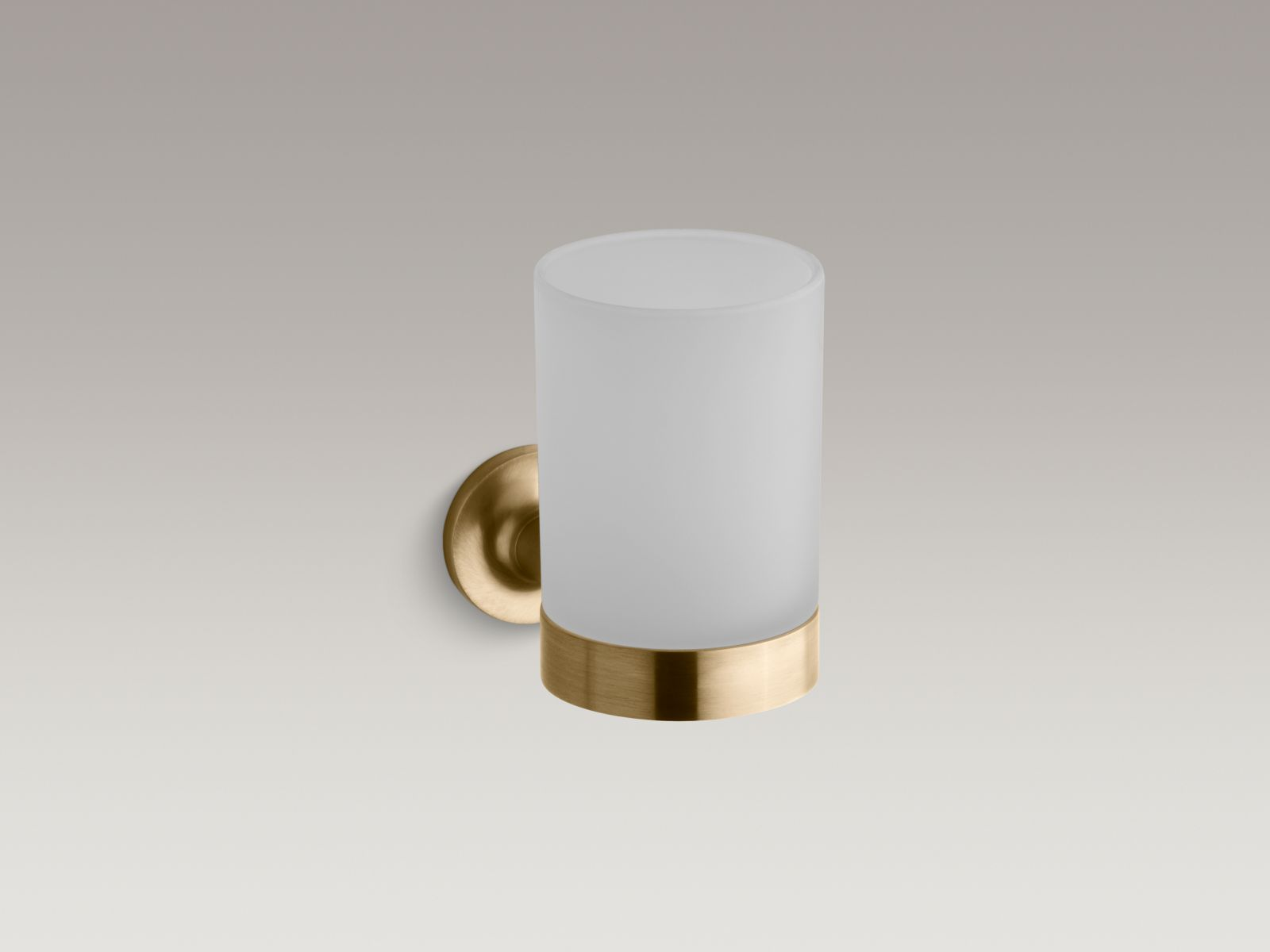 Kohler K-14447-BGD Purist Tumbler and Holder Vibrant Moderne Brushed Gold