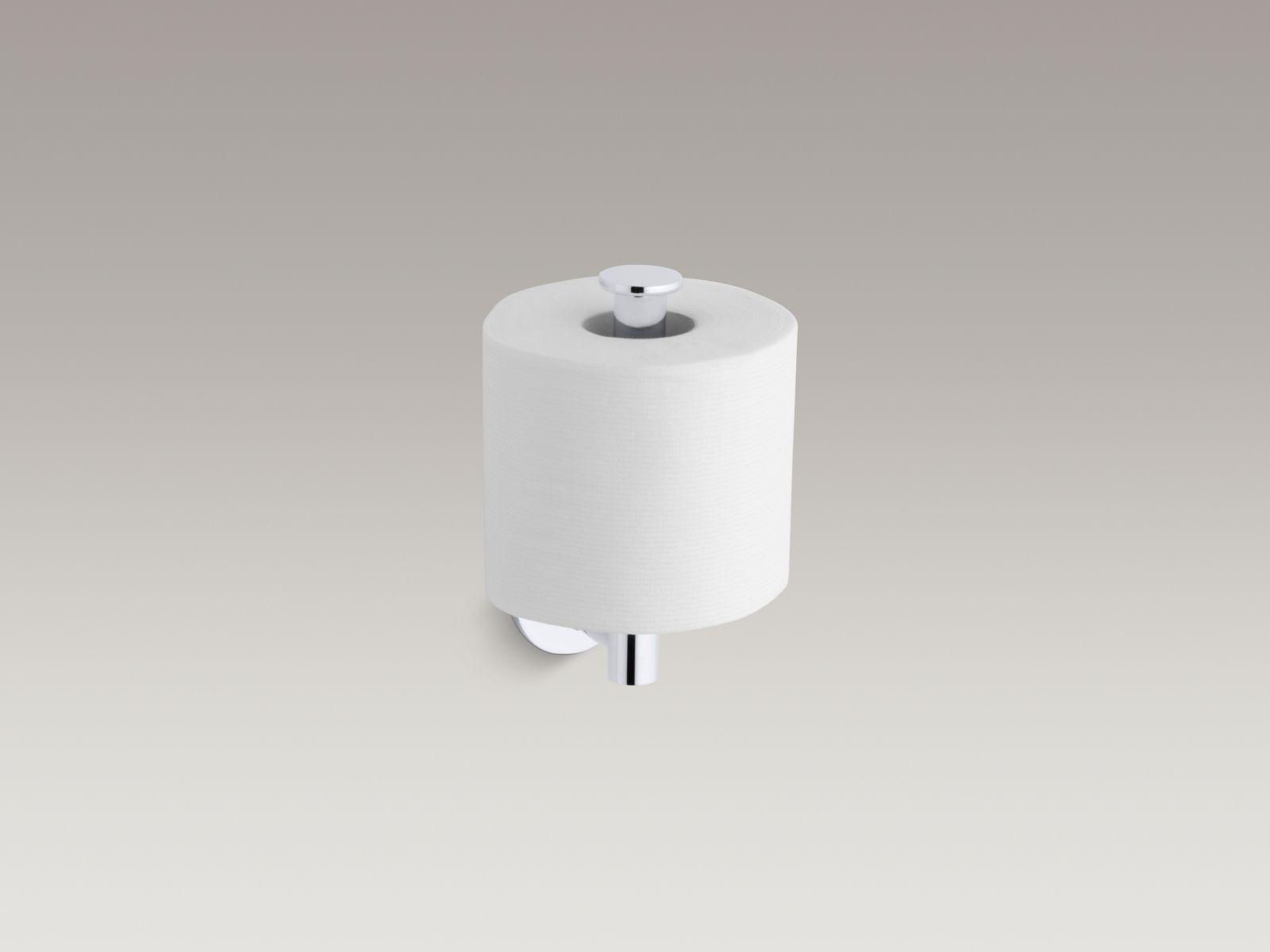 Kohler K-14459-CP Stillness Vertical Toilet Paper Holder Polished Chrome