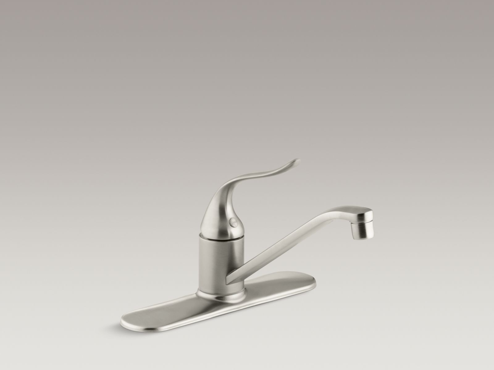 "Kohler K-15171-F-BN Coralais Single-handle Kitchen Faucet with 8-1/2"" Spout, Escutcheon, and Lever Handle Vibrant Brushed Nickel"